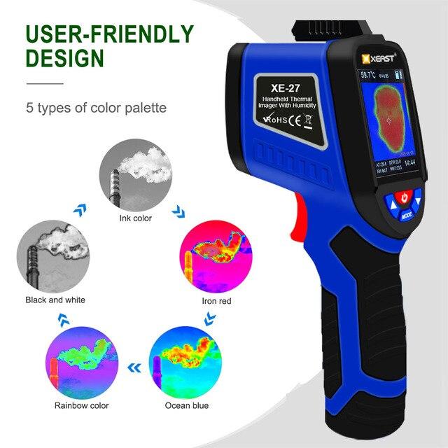 Быстрая доставка, XEAST может измерить температуру человеческого тела, влажность, инфракрасная камера, 3 в 1 Многоцелевой ЖК экран, 2020