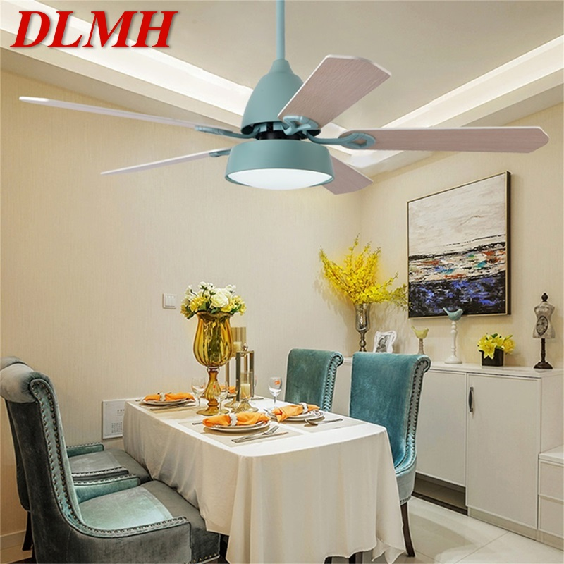 Dlmh Ceiling Fan With Lights Remote Control 3 Colors Led Modern Wood Blade For Home Dining Room Bedroom Living Room A Wide Selection Of Colours And Designs