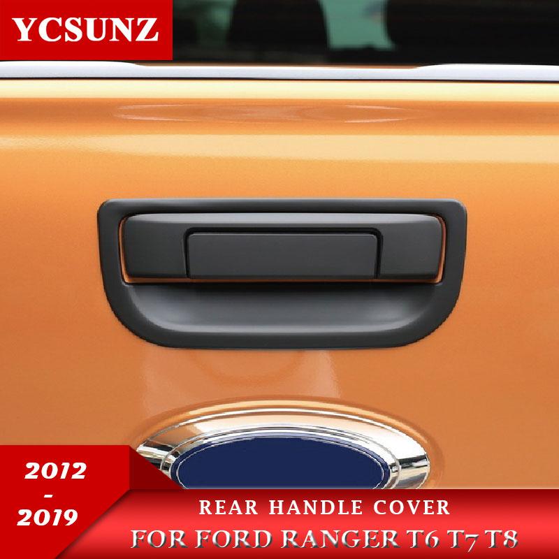 4 Door Black Handle Cover For All New Ford Ranger T6 2012 2017 Pick Up Truck V.2
