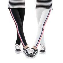 VEENIBEAR, pantalones de primavera y otoño para niñas, pantalones deportivos a rayas, Leggings para niñas, Leggings para niños de 3 a 11 años