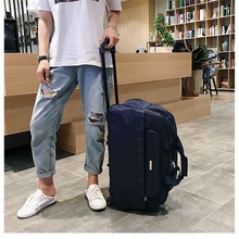 New 2021 Travel Trolley Bag Duffle Luggage with Wheels  High Capacity Rolling Suitcase Lady Travel Bag Men Carry-On Bag 4 Colors