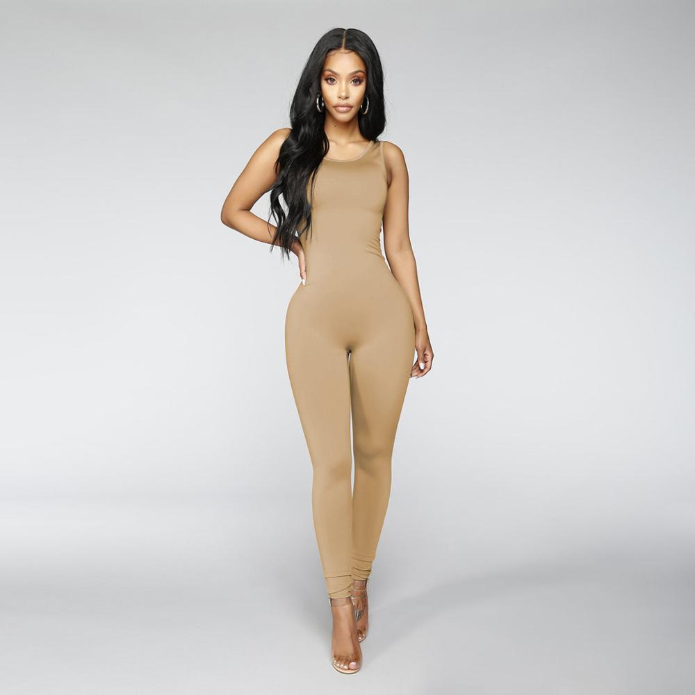 Sleeveless O-Neck Long Pants Women Jumpsuits 2019 New Fashion Sexy Long Pants Jumpsuit Solid Colors Romper Off Shoulder Clothing