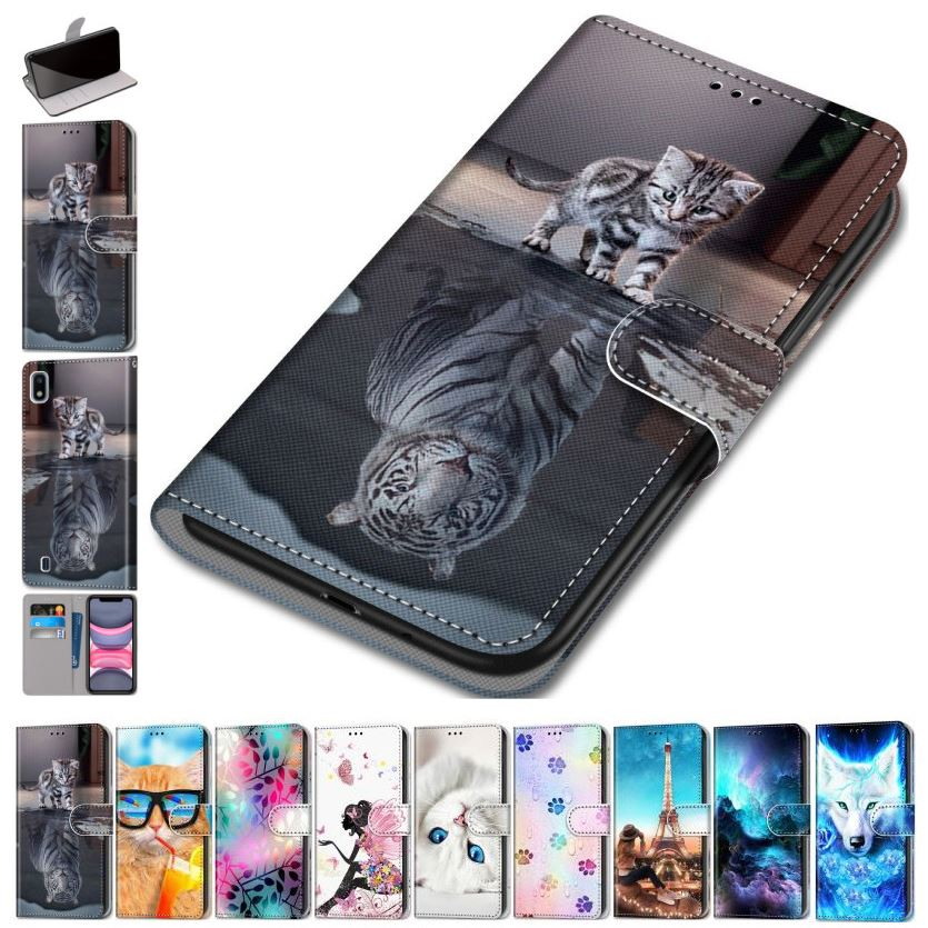 Fashion Flip Leather Phone Wallet For Bag Nokia 6.1 5.1 Plus 5 2017 Beast Flip Phone Case Floral Stand Cover Cute Gift Capa D08F