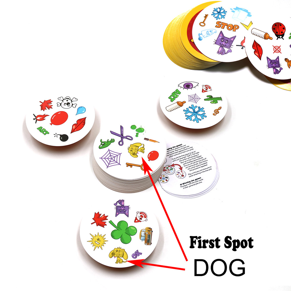 80mm Spot Card Games For Kids Family Party Enjoy It Playing Cards English Version Most Classic Camp Animals Sport Board Game