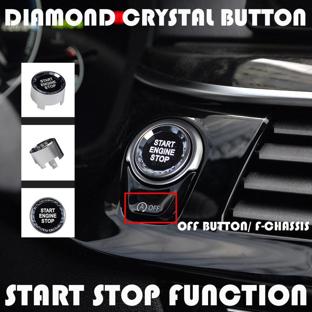 Car Styling ENGINE START STOP Switch Button Sticker For BMW 1 2 3 4 5 6 7 Series F20 F21 F22 F23 F30 F34 F10 <font><b>F18</b></font> F12 F07 F01 F02 image