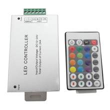 44 Tombol LED RGB Controller DC12V IR Remote Controller Switch untuk SMD 3528 5050 RGB LED Strip Lampu(China)