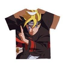 Camiseta con estampado 3D de Naruto para niños, ropa fresca y holgada transpirable de Anime para niños y niñas, talla 4T-14T, novedad de verano de 2021