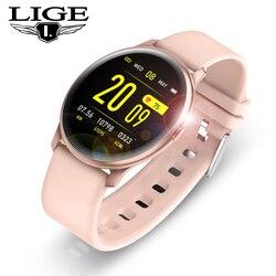 Relógio inteligente de pulso, mulheres homens relógio de luxo relógios digitais de pressão arterial eletrônico inteligente moda calorie modo dnd do esporte relógio de pulso para ios android