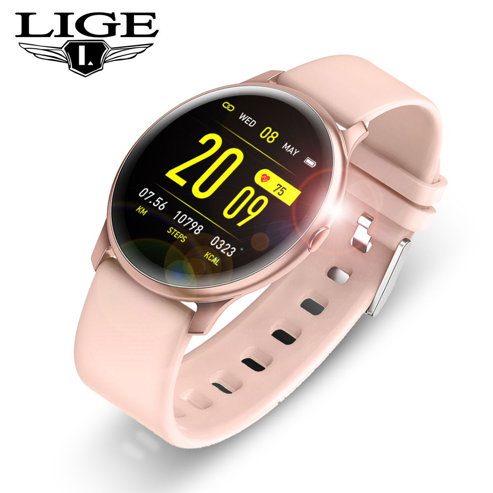 Women Men <font><b>Smart</b></font> Electronic <font><b>Watch</b></font> Luxury Blood Pressure Digital <font><b>Watches</b></font> Fashion Calorie Sport Wristwatch DND Mode For Android IOS image