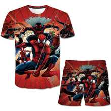 Spider Boys Girls Clothes Set Summer Kids T Shirt with Shorts Casual Sport Suits 2pcs Tracksuit Childre Fashion Cool Outfits