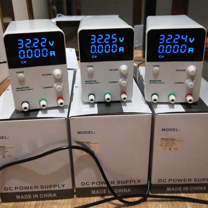 Alimentation de laboratoire de commutation Source réglable 5a 30 v unité cc banc Source numérique blanc 220v 110V