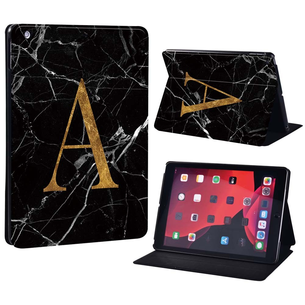letter A on black White For Apple iPad 8 10 2 2020 8th 8 Generation A2428 A2429 Printing initia letters PU