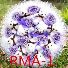 Düğün gelin aksesuarları tutan çiçekler 3303 RMA