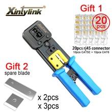 Xintylink EZ rj45 المكشكش سلك شبكة أدوات كماشة rj12 cat5 cat6 rj 45 مقشر كابل العقص المشبك ملقط كليب متعددة الوظائف