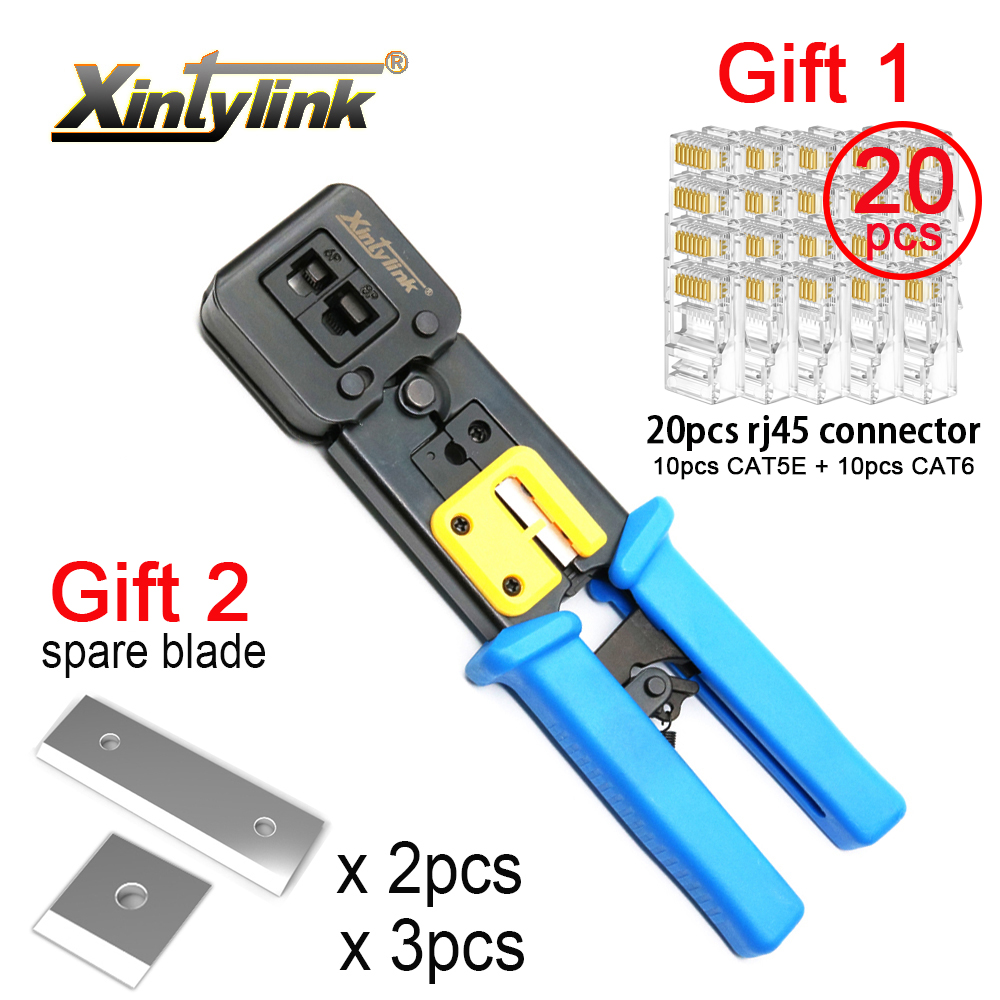 xintylink EZ rj45 crimper wire network tools pliers rj12 cat5 cat6 rj 45 Cable Stripper crimping clamp tongs clip multifunction(China)