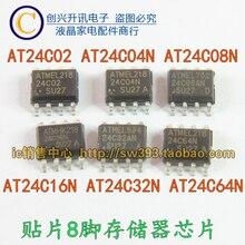 Original 5pcs/ AT24C02 AT24C04 AT24C08 AT24C16 AT24C32 AT24C64N SOP-8