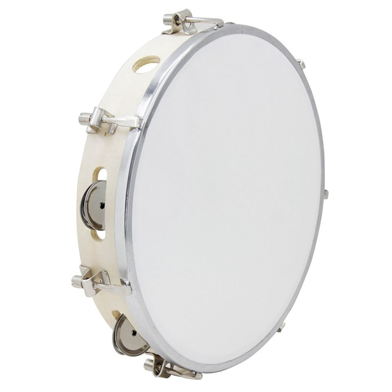 10 In Tambourine Capoeira Leather Drum Tambourine Samba Brasil Wooden Tambourine Precussion Music Instrument For Sale 150 D