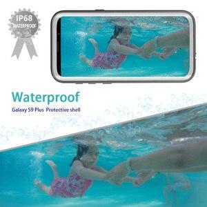 Image 2 - IP68 حافظة هاتف ضد الماء لهواتف سامسونج نوت 20 10 9 حافظة حماية 360 لهاتف جالاكسي S20 الترا S9 S10 بلس حافظة مضادة للماء