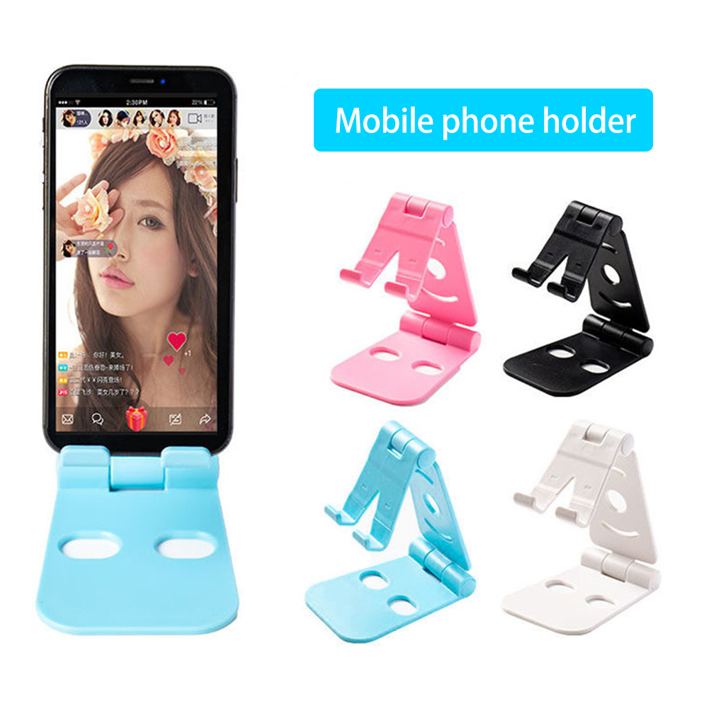 2019 NEW Universal Adjustable Mobile Phone Holder For IPhone Xiaomi Huawei Plastic Phone Stand Desk Tablet Folding Stand Desktop