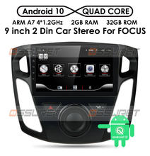 2 + 32/2 16 9 Polegada android 10 multimídia player rádio do carro para 2012 2013 2014 2015 ford foco estéreo suporte bluetooth wi fi usb obd2(China)