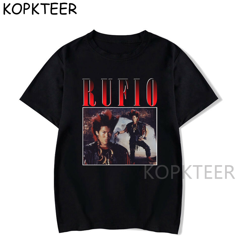 Rufio Peter Pan Hook X Slick Rick X <font><b>Sean</b></font> Astin Design Print for Men Cotton Black <font><b>T</b></font> <font><b>Shirt</b></font> Music Vintage Hip Hop Top Tee Short image