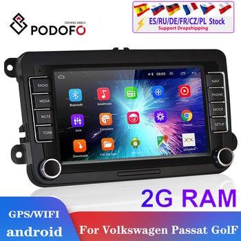 Podofo 2din android car radio for Volkswagen Car Multimedia player 2 din autoradio 2din For VW/Golf/Passat/SEAT/Skoda/Octavia