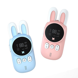 Portable Handheld 1 Pair Kids Walkie Talkies Kids Toy Cute Rabbit Walkie Handheld Talk Parent-Child Educational Interactive Toys