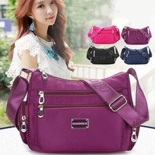 Fashion Ladies Shoulder Bag Polyester Waterproof Casual Messenger Large Capacity Travel Handbag
