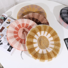 Winter Beret Hats Women Female Artist Painter Soft Berets for Western Style Kitted Octagonal cap