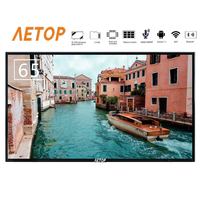 Free shipping china tv 4k UHD 65 inch led television flat screen smart tv with Tempered glass