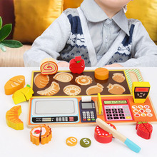 Montessori Early Educational Toy Wooden Kitchen Cutting Fruit Vegetable Toy wooden toys gift toys for children