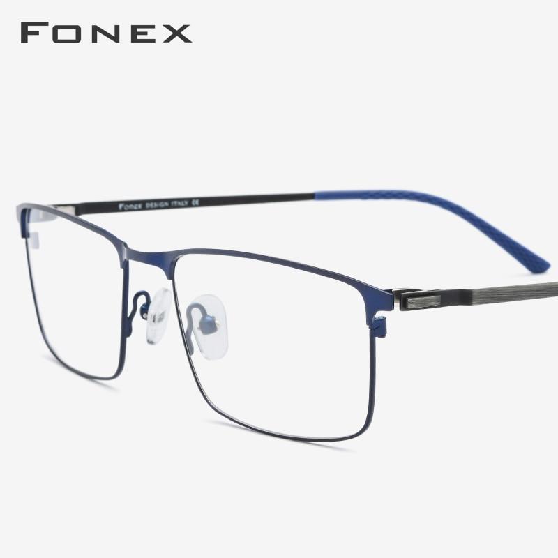Alloy Eyeglasses Frame Men New Square Prescription Male Myopia Optical Glasses Frames Man Japan Screwless Eyewear 9847