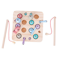 Обучающая игрушка-головоломка для малышей, детские деревянные магнитные игрушки для рыбалки, набор для детей, 10 шт. в подарочной коробке# Y2