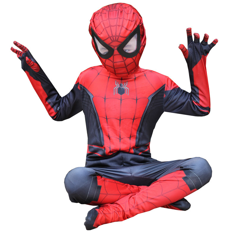 Extraordinary Spider-Man Pantyhose Children's Heroes Returned Siamese Anime Cosplay Costumes and Masks 5