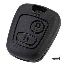 10 шт., 2 кнопки дистанционного ключа, чехол брелок, Сменный Чехол для Citroen C1 C2 C3 C4 XSARA Picasso Peugeot 307 107 207 407