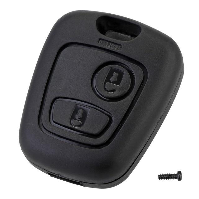 10pcs 2 버튼 원격 키 자동차 키 Fob 케이스 교체 셸 커버 시트로엥 C1 C2 C3 C4 XSARA 피카소 푸조 307 107 207 407