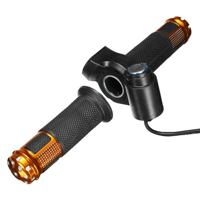 Electric Scooter Bike Throttle 24V 36V 48V 60V Grip Handlebar LED Digital