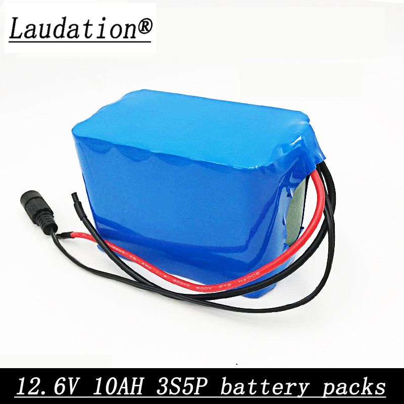 Laudation <font><b>12V</b></font> <font><b>10AH</b></font> 3S5P 18650 <font><b>lithium</b></font> rechargeable <font><b>battery</b></font> pack unmanned aircraft emergency power high-capacity with protective image