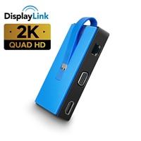 USB 3,0 a HDMI compatible con audio y vídeo convertidor USB 3,0 a VGA HD Gigabite red Estación de muelle de Displaylink chip win10/8/mac os