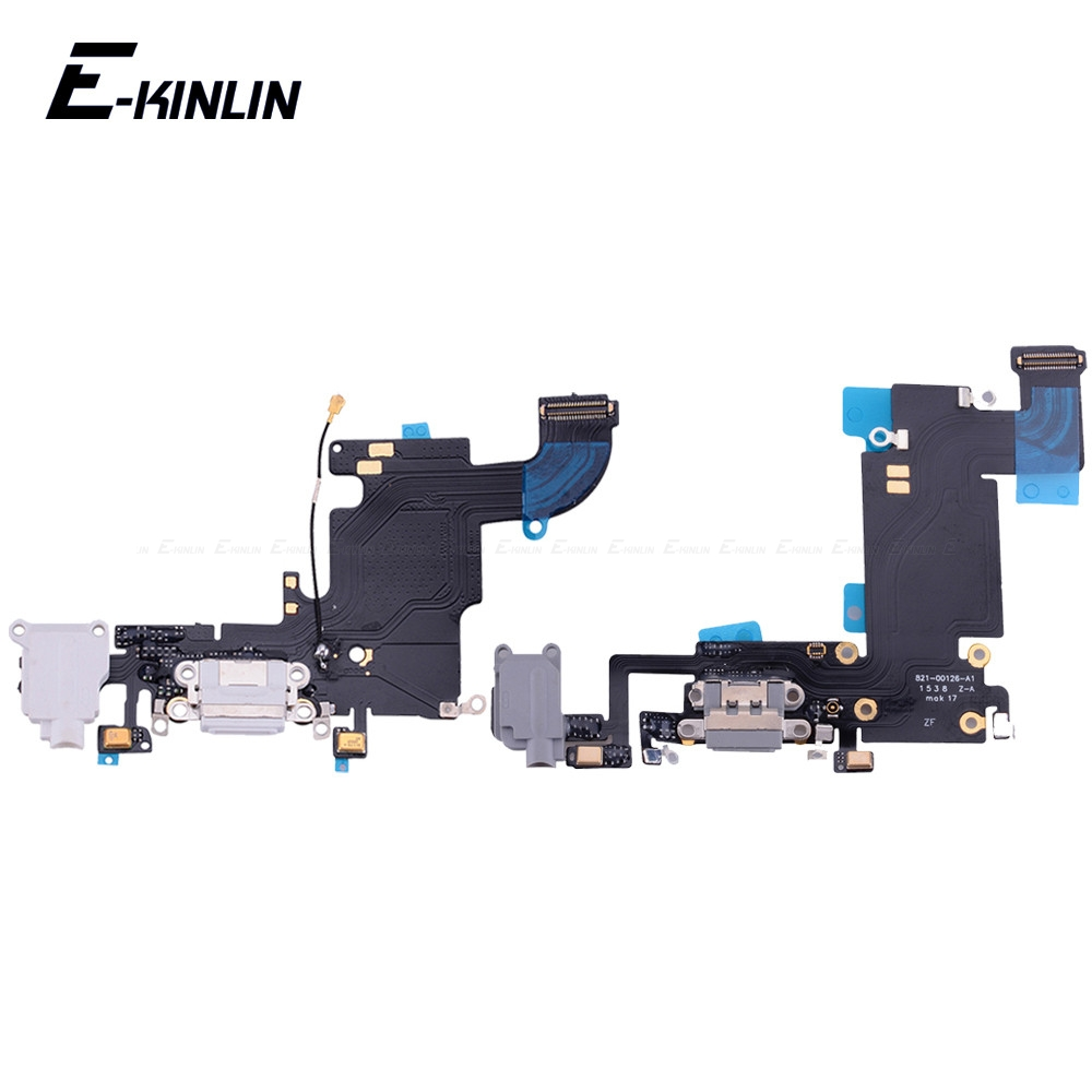 Bottom Charger Charging Port Dock USB Connector Data Headphone Jack Flex Ribbon Cable For IPhone 6 6S Plus