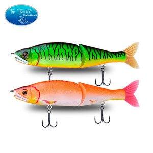 """Image 2 - 148mm 5.8 178mm 7"""" 220mm 8.7 yavaş batan tuzlu su veya yüzen tatlısu büyük bas eklemli yemler Swimbait balıkçılık Lures"""