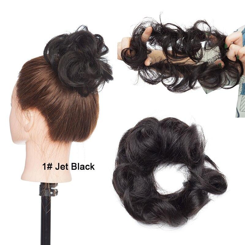 chignon hairpiece para as mulheres cor natural