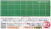 Hasegawa TT-107 esteira de corte oblongo r borda (400x150mm)