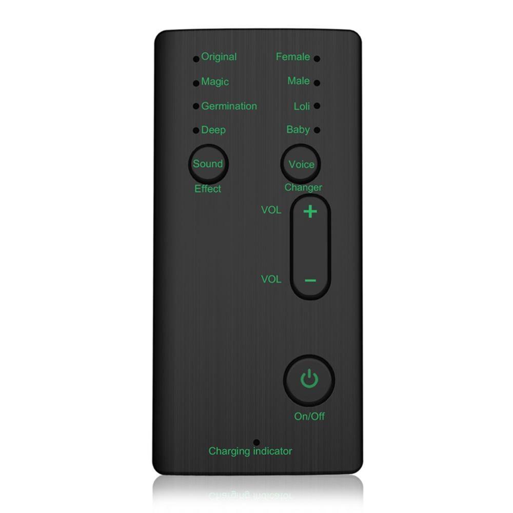 Novo trocador de voz mini portátil 8 voz mudando modulador com funções de voz ajustável telefone computador placa de som mic ferramenta