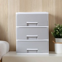 Home Office Organizer Drawer Office Desktop Storage Box Simple Plastic Small Drawer Storage Cabinet Desk File Debris Storage Box