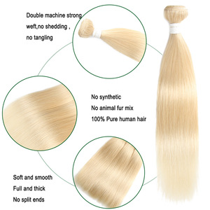 Image 5 - 613 Blonde Brazilian Straight Human Hair Bundles 3/4PCS  Honey Blonde Human Hair Weave Bundles SOKU 100% Remy Ombre Hair Bundles