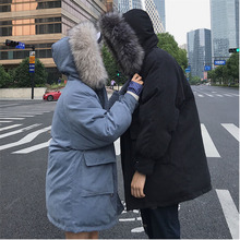 Winter Coat Men Warm Fashion Solid Color Casual Parka Men Fur Collar Hooded Coat Man Streetwear Loose Cotton Long Jacket Clothes winter coat men warm fashion thick parka men casual solid color hooded coat man streetwear wild loose cotton long jacket men