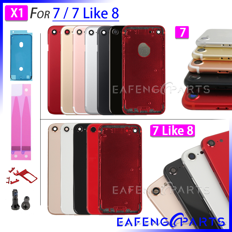 Battery Cover For IPhone 7 And 7G Like 8G Style For 7 To 8 Back Housing Glass Rear Panel With Metal Frame