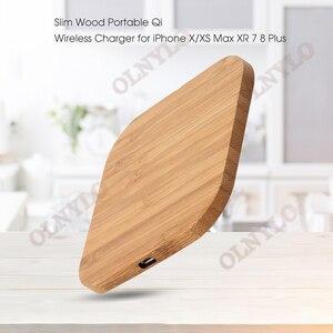 Image 3 - Carregador sem fio de madeira, carregador wireless com 5w para iphone 8 x samsung xiaomi 5v1a qi dispositivo de dispositivo