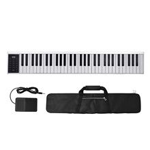 61 Keys Digital Electronic Piano Keyboard MIDI Output 128 Tones 128 Rhythms 14 Demo Songs Recording Programming Playback